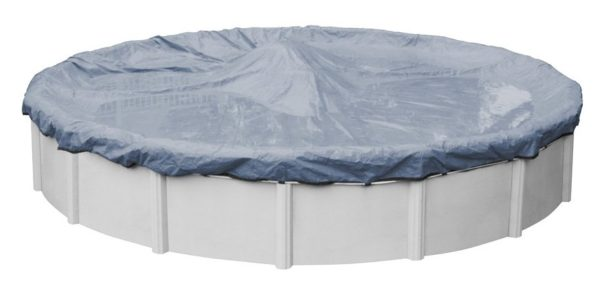 3. Robelle 3421-4 Premier Winter Pool Cover for Round Above Ground Swimming Pools, 21-ft. Round Pool