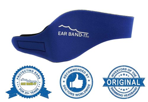 4. Ear Band-It Swimming Headband - Invented by Physician - Keep Water Out, Hold Ear Plugs in