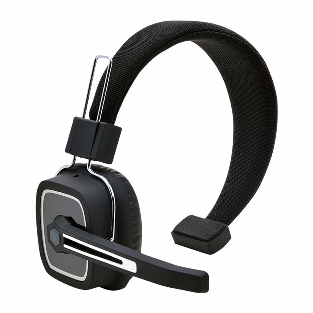 4. Truck Driver Bluetooth Headset,Office Headset, Wireless Over The Head Headset with Extra Boom Noise Reduction Mic