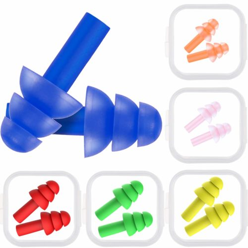 6. Bememo 6 Pairs Ear Plugs Noise Cancelling Reusable Earplugs for Sleeping and Swimming