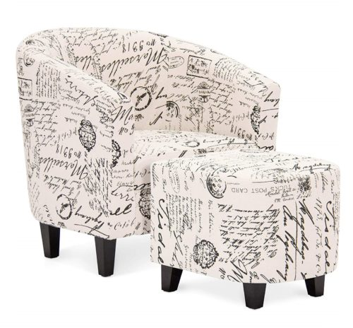 6. Best Choice Products Modern Contemporary Upholstered Barrel Accent Chair