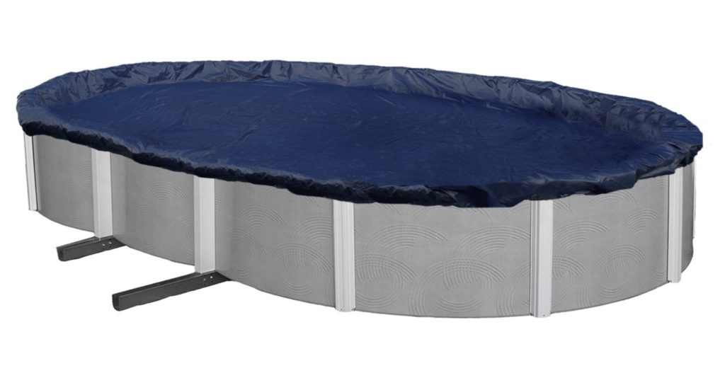 6. Blue Wave Bronze 8-Year 18-ft x 34-ft Oval Above Ground Pool Winter Cover
