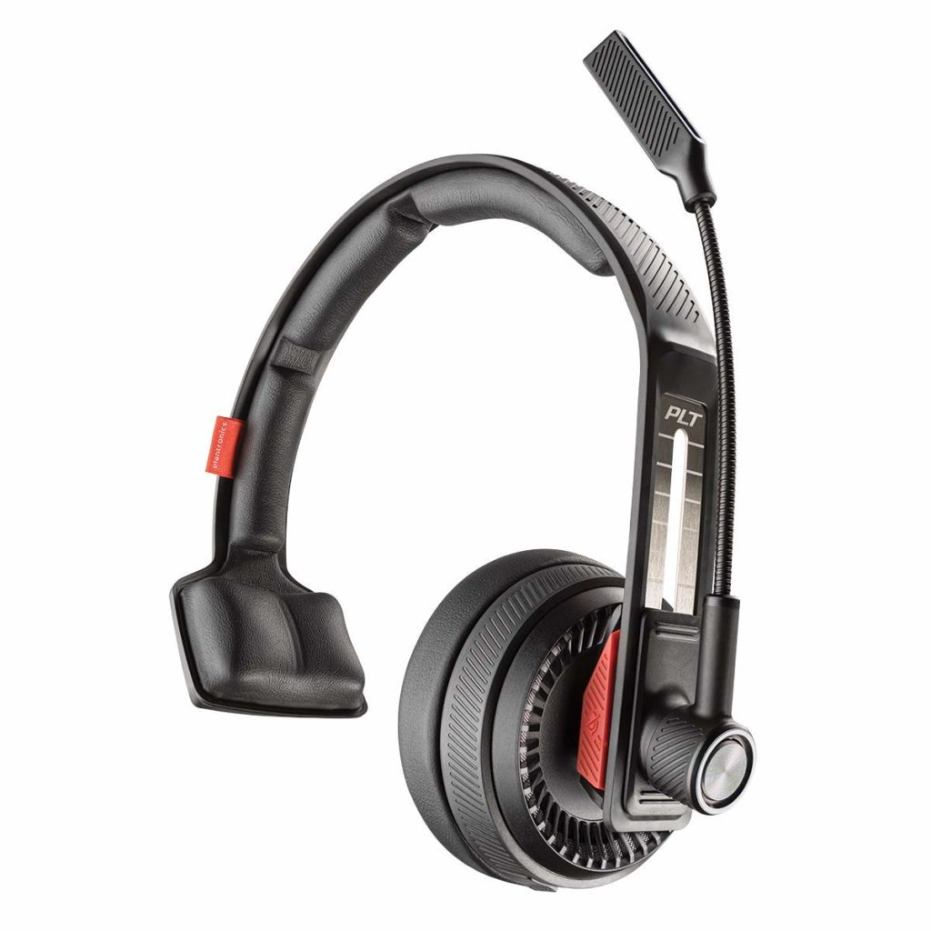 6. Plantronics Voyager 104 Bluetooth Headset, Over The Head Headset with Microphone Built for Truckers