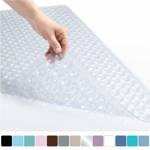 7. Gorilla Grip Original Patented Bath, Shower, Tub Mat (35x16) Machine Washable, Antibacterial, BPA, Latex