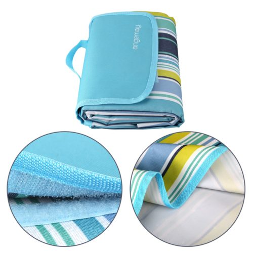 12. Angemay Outdoor & Picnic Blanket Extra Large Sand Proof and Waterproof Portable Beach Mat for Camping Hiking Festivals
