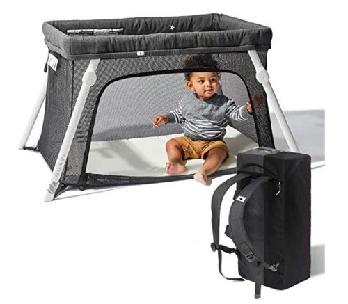 12. Lotus Travel Crib - Backpack Portable, Lightweight, Easy to Pack Play-Yard with Comfortable Mattress - Certified Baby Safe