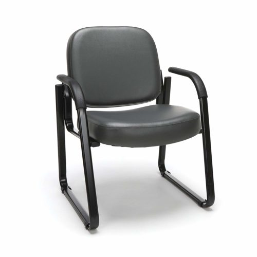 12. OFM Reception Chair with Arms - Anti-Microbial,Anti-Bacterial Vinyl Guest Chair
