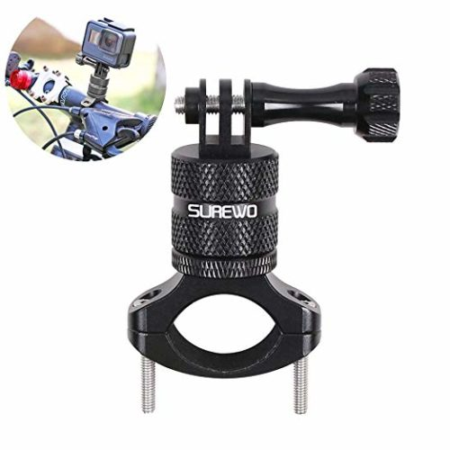 12. SUREWO Bike Handlebar Mount,360 Degrees Rotation Aluminum Bicycle Seatpost Mount Compatible with GoPro Hero 7