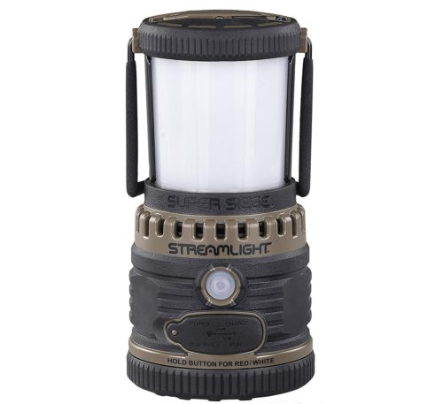 12. Streamlight 44947 Super Siege 120V AC, Rechargeable and Portable USB Charger, Coyote - 1,100 Lumen