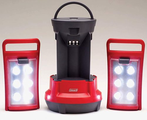 13. Coleman Quad LED Lantern Special Edition Ultra Bright 190 Lumens, Red