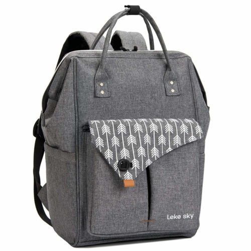 13. Lekesky Laptop Backpack 15.6 Inch Stylish Computer Backpack School Backpack Water Repellent Travel Backpack for Women and Men, Grey