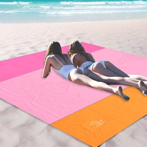 13. OCOOPA Sandfree Beach Blanket 10X 9 Extra Large, Soft Pocket Picnic Blanket, Waterproof Outdoor Family Mat for Beach, Camping, Hiking
