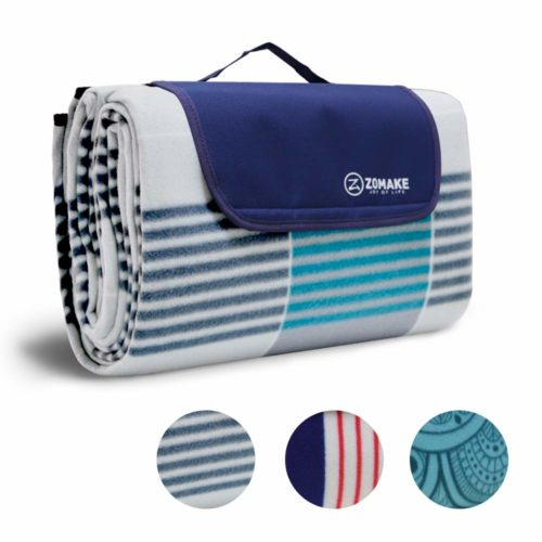14. ZOMAKE Picnic Blanket Waterproof Extra Large, Outdoor Blanket with Waterproof Backing for Family Concerts,Beach,Park
