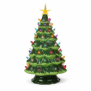 2. Milltown Merchants Ceramic Christmas tree