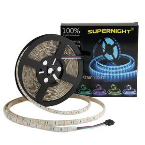8. SUPERNIGHT LED Strip Lights, Waterproof 300LEDs
