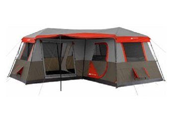 3. Ozark Trail 16x16-Feet Instant 12-Person Tent, 3 Rooms, with Pre-Attached Poles