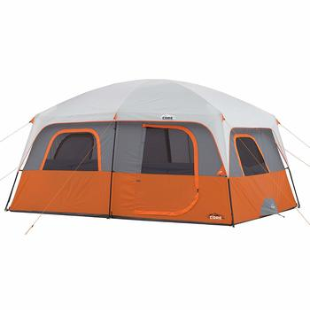 4. CORE Straight Wall Cabin Tent, 10 People