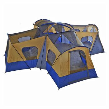 5. Fortunershop Family Cabin Tent 14 Person Base Camp 4 Rooms Hiking Camping Shelter Outdoor