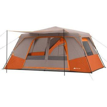 7. Ozark Trail 11 Person Instant Cabin Tent with 3 Rooms, 14' x 14' (Orange)