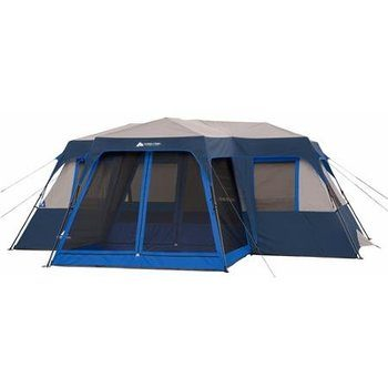 8.Ozark Trail Instant Cabin Tent for 12 People, with Screen Room
