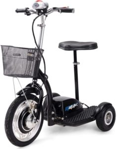 Rugged Electric Trike for Adults Mini LED Lights Electric Tricycle with Basket,Powerful 36v 350w Electric Scooter