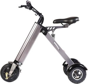 TopMate ES31 Electric Scooter Mini Foldable Tricycle Weight 14KG with 3 Gears Speed and 3 Shock Absorbers